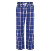 Royal/White Flannel Pajama Pant-Arched Harper Hawk Head