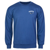Royal Fleece Crew-Arched Harper Hawk Head
