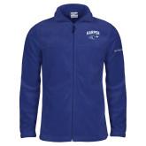 Columbia Full Zip Royal Fleece Jacket-Arched Harper Hawk Head