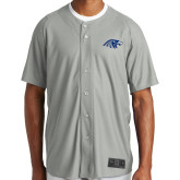 New Era Light Grey Diamond Era Jersey-Hawk Head, Personalized name on back in 61197 Dk blue, numbers on back in 61197 Dk blue
