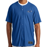 New Era Royal Diamond Era Jersey-Hawk Head, Personalized name on back in white, numbers on back in white