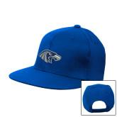 Royal Flat Bill Snapback Hat-Hawk Head