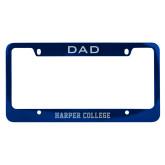 Dad Metal Blue License Plate Frame-Hawk Head Engraved