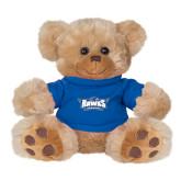 Plush Big Paw 8 1/2 inch Brown Bear w/Royal Shirt-Primary Athletics Mark