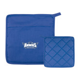 Quilted Canvas Royal Pot Holder-Primary Athletics Mark