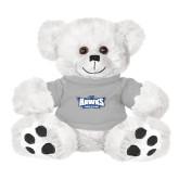 Plush Big Paw 8 1/2 inch White Bear w/Grey Shirt-Primary Athletics Mark
