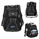 High Sierra Swerve Black Compu Backpack-Hawk Head