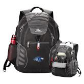High Sierra Big Wig Black Compu Backpack-Hawk Head