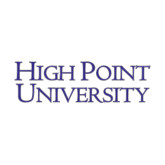 Medium Decal-Stacked High Point University, 8 in W