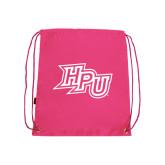 Pink Drawstring Backpack-HPU