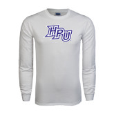 White Long Sleeve T Shirt-HPU Distressed