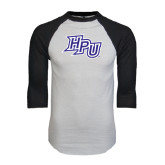 White/Black Raglan Baseball T-Shirt-HPU