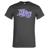 Charcoal T Shirt-HPU Distressed