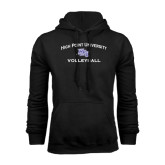 Black Fleece Hoodie-Volleyball