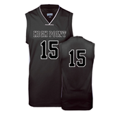 Replica Black Adult Basketball Jersey-Mens #15