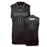 Replica Black Adult Basketball Jersey-personalized Mens