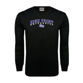 Black Long Sleeve TShirt-Arched High Point University