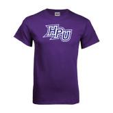 Purple T Shirt-HPU Distressed