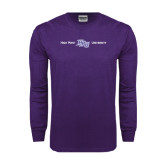 Purple Long Sleeve T Shirt-High Point HPU University