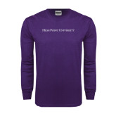 Purple Long Sleeve T Shirt-High Point University