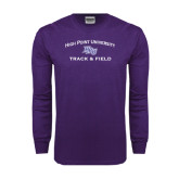 Purple Long Sleeve T Shirt-Track & Field