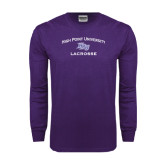 Purple Long Sleeve T Shirt-Lacrosse