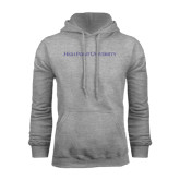 Grey Fleece Hoodie-High Point University