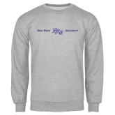 Grey Fleece Crew-High Point HPU University