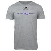 Adidas Sport Grey Logo T Shirt-High Point HPU University
