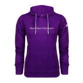 Adidas Climawarm Purple Team Issue Hoodie-High Point University