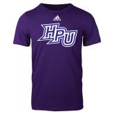 Adidas Purple Logo T Shirt-HPU