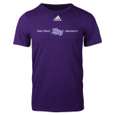 Adidas Purple Logo T Shirt-High Point HPU University