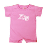 Bubble Gum Pink Infant Romper-HPU