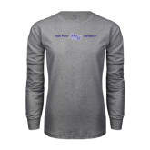 Grey Long Sleeve T Shirt-High Point HPU University