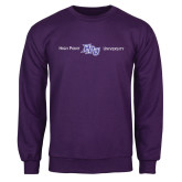 Purple Fleece Crew-High Point HPU University