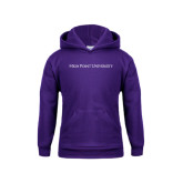 Youth Purple Fleece Hoodie-High Point University