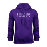 Purple Fleece Hoodie-Stacked High Point University