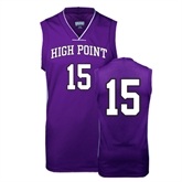 Replica Purple Adult Basketball Jersey-#15