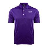 Purple Dry Mesh Polo-Stacked High Point University