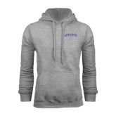 Grey Fleece Hoodie-Arched High Point University
