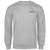 Grey Fleece Crew-Stacked High Point University