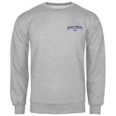 Grey Fleece Crew-Arched High Point University