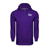 Under Armour Purple Performance Sweats Team Hoodie-HPU