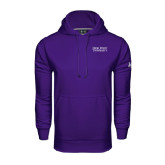 Under Armour Purple Performance Sweats Team Hoodie-Stacked High Point University