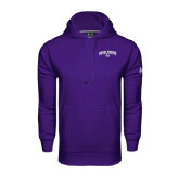Under Armour Purple Performance Sweats Team Hoodie-Arched High Point University