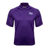 Purple Textured Saddle Shoulder Polo-HPU