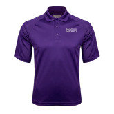 Purple Textured Saddle Shoulder Polo-Stacked High Point University