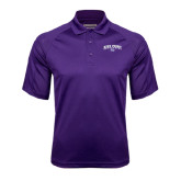 Purple Textured Saddle Shoulder Polo-Arched High Point University
