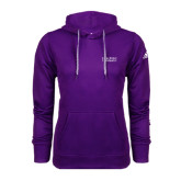 Adidas Climawarm Purple Team Issue Hoodie-Stacked High Point University