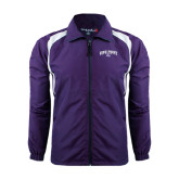 Colorblock Purple/White Wind Jacket-Arched High Point University
